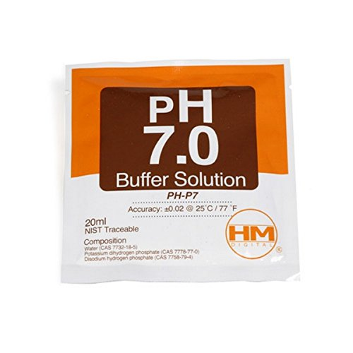 Solution / Sachet d'étalonnage HM Digital pH 7.0 20ml (PH-P7)