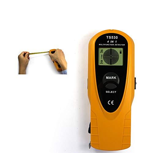 allsun Stud Finder Wall Multi-scanner 4 in 1 Wall Metal Detector Wood Stud Finder AC wire Metal Scanner Digital LCD Screen Tape,Yellow