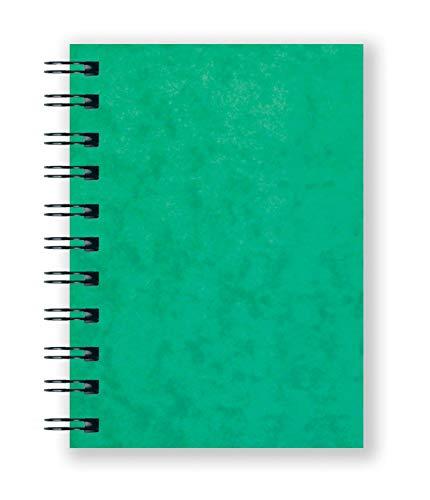 Luxpad SPA6 Carnet de notes à couverture rigide à double fil A6 200 pages lignées et couverture en carton pressé durable