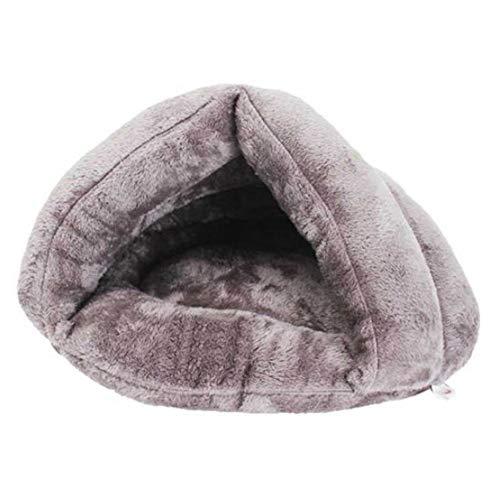 Haierr Pet Nest hondenbed hondenmand kattenstrooi kat slaapzak dik warm 50 * 40 * 30 cm binnen 15 kg
