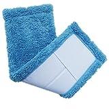 BESTOMZ Serpillères en Microfibre Remplacement Vadrouille pour Balai 2pcs (Bleu)