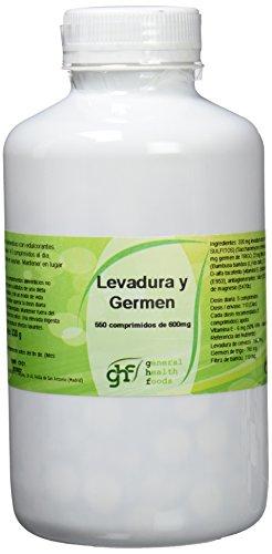 GHF 006390021 - Complemento Alimenticio Levadura de Cerveza y Germen de Trigo, 550 Comprimidos