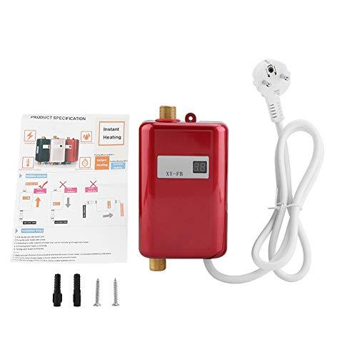 FTVOGUE 220V 3400W Mini eléctrico Sin Tanque Calentador instantáneo de Agua Caliente Baño Cocina Lavado(01)