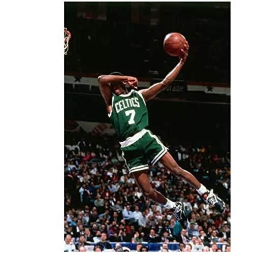 Carteles e impresiones Dee Brown clásico Dunk jugador de baloncesto póster artístico lienzo pintura decoración del hogar- 20x30 pulgadas sin marco