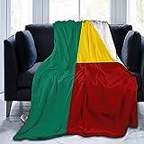Flanelldecke Flagge von Benin, flauschig, bequem, warm, leicht, weich, Überwurf für Sofa, Couch, Schlafzimmer