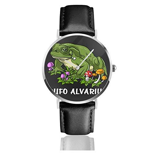 Relojes Anolog Negocio Cuarzo Cuero de PU Amable Relojes de Pulsera Wrist Watches Rana Sapo Bufo Alvarius