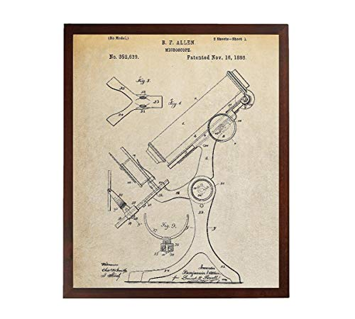 Turnip Designs Antique Microscope Patent Poster Science Poster Chemistry Art Science Teacher Pharmacy Gift TDP431