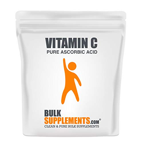 BulkSupplements.com Vitamin C Powder - Pure Ascorbic Acid (1 Kilogram - 2.2 lbs - 1333 Servings) Non-GMO - Gluten Free