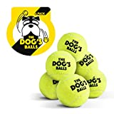 The Dog's Balls, Dog Tennis Balls, 6-Pack Yellow Dog Toy, Premium Strong Dog & Puppy Tennis Ball