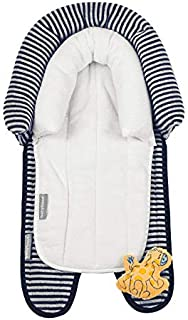 Babyhood Breathe Eze Micro Towel 2 in 1 Head Support, Navy/White