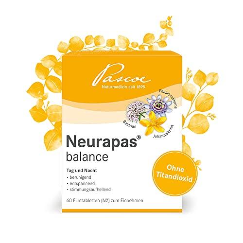 Pascoe® Neurapas balance: mit Johanniskraut, Passionsblume & Baldrian - stimmungsaufhellend, entspannend & beruhigend - bei leichten depressiven Verstimmungen - rein pflanzliche Wirkstoffe (60 Tabletten)