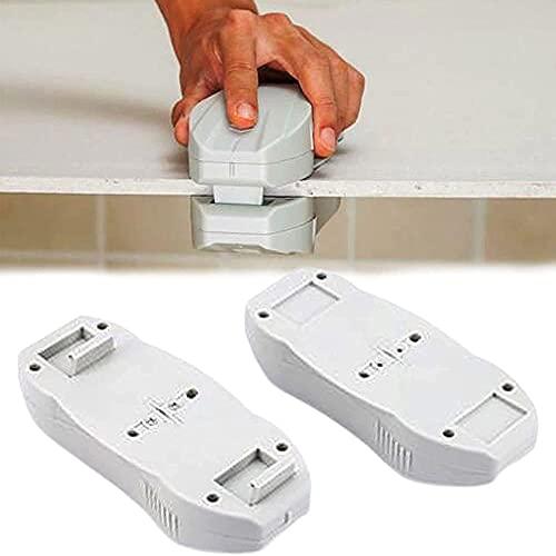 Cortadora de placas de yeso, cortadora manual de placas de yeso, cortadora de bordes de placas de yeso, máquina cortadora magnética de placas de yeso de doble hoja (1PCS)