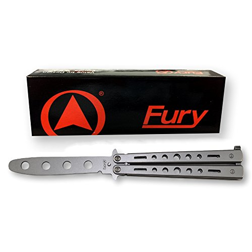 FURY Butterfly Trainer Knife (Silver Matte Finish)