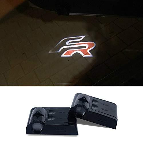Auto LED Logo Tür licht für Leon 1 2 3 MK3 Ateca Ibiza 6J Toledo Exeo cordoba FR Geist Schatten Willkommen Lichter 2Pcs