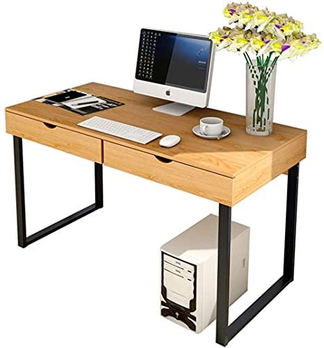 Escritorio de metal con marco de acero y cajones para el hogar, oficina, escritorio moderno y simple, escritorio de maquillaje y tocador de mesa C 100 CM-120 CM_A