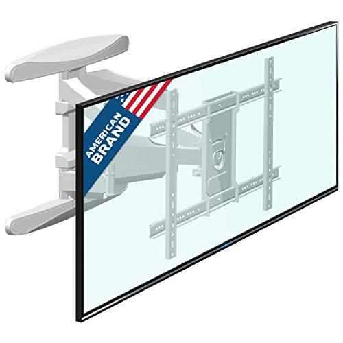 """ONKRON TV Halterung Wandhalterung für 40\""""-70\"""" Zoll Bildschirme VESA 200x100 bis 600x400 mm schwenkbar neigbar M6L Weiß"""