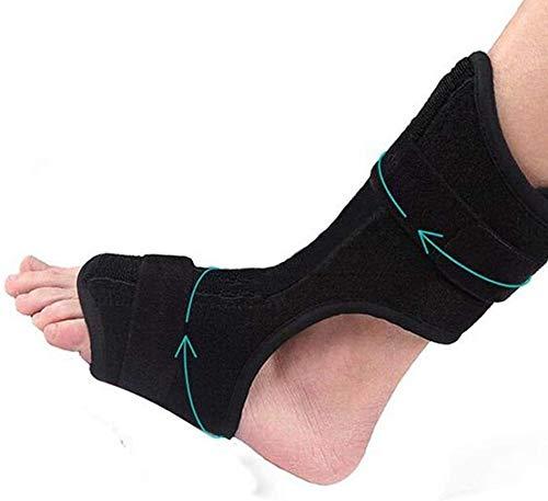 NQCT Wiederverwendbare Fuß Sprunggelenk-Orthese, Fersensporn Splint linken und rechten Fuß Einstellbarer Orthotic Fallfuß Brace Pain Relief 9.29