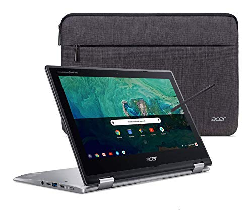 Acer Chromebook Spin 11 Convertible Laptop, Intel Celeron N3350, 11.6' HD Touch Display, 4GB DDR4, 32GB eMMC, 802.11ac WiFi, Wacom EMR Pen, Sleeve, CP311-1HN-C2DV