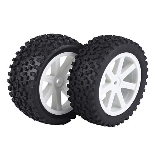 Neumático de coche RC, Neumático de rueda RC Neumático de RC, Neumático de goma para HPI/Hobbyking Redcat/HSP Traxxas/Losi ZD Racing Crawler Car(white)