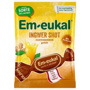 Em-eukal Ingwer Shot Hustenbonbons gefüllt zuckerhaltig, 20er pack (20 x 75g)