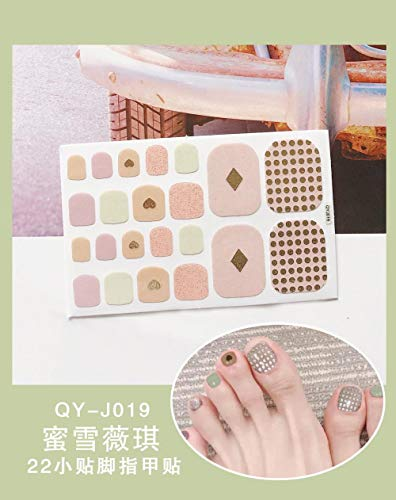 BGPOM Foot Stickers Nail Stickers Nail Stickers Fully Waterproof Lasting 3D Toenail Stickers Patch 10 Sheets/Set,Michelle Vicky (QY-J019)