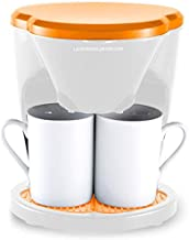 Suinga Oranjekleurige koffiezetapparaat 0,6 liter (2 kopjes) en 450 W. Afmetingen: 17 x 15 x 20 cm