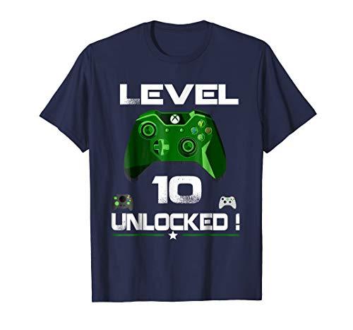 Level 10 Unlocked Birthday T Shirt 10th Video Gamer Boy Gift - T Shirt for Men and Woman.