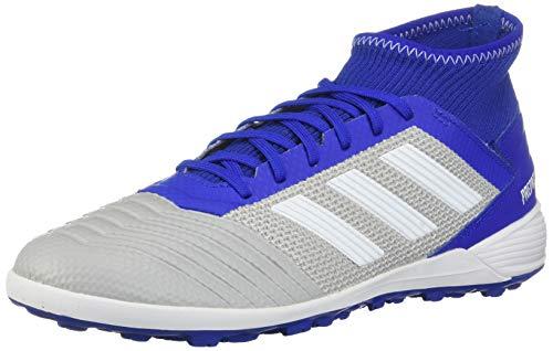 adidas Predator 19.3 Turf Soccer Shoe (mens) Grey/White/Bold Blue 12.5