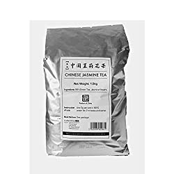 Capacitea Loose Leaf Chinese Green Tea Flavoured with Jasmine Flowers - Low Caffeine - Bulk Size Wholesale Pack - Ideal for Restaurants, Cafes & Catering - 1.5kg
