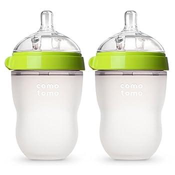 Comotomo Baby Bottle Green 8 Ounce  2 Count