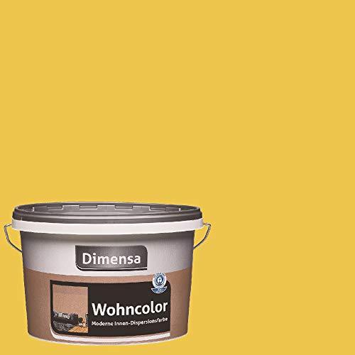Dimensa Wohncolor bunte Wandfarbe gelb 2,5 Liter, Citrin gelb