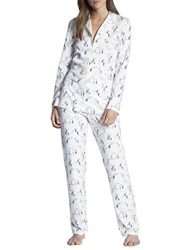 CALIDA Cosy Emotion Pyjama, durchgeknöpft Damen