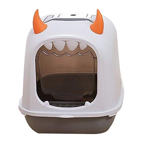 Gatera Arenero WC Linda novedad gato caja de arena completamente cerrada gatos inodoro tipos de gatos a prueba de olores y salpicaduras a prueba de salpicaduras de basura lavabo lavabo totalmente cerr