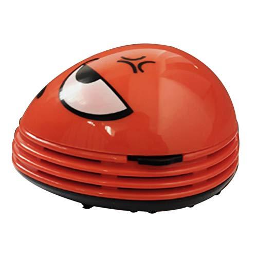 Solustre - Aspirador de escritorio en forma de expresión en colera mini aspirador de polvo de mesa con sensor de polvo para limpiar los pelos de polvo, migas caídas sin
