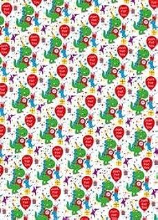 Papel de regalo de cumpleaños para niños - T Rex Dinosaurio ...