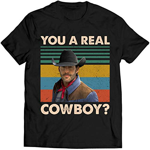 Bud You A Real Cowboy Vintage T Shirt Urban Lovers Cowboys Fan Movie T Shirt Men T-Shirt (4XL, Black)