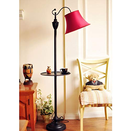 LY88 Licht Vloerlampen Europese Landelijke Pastorale Studie Slaapkamer Decoratieve Lichten 0609A Kleur: Wit rijst met tafel