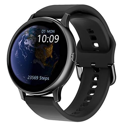 WTTHCC Reloj Inteligente Rastreador De Ejercicios para Mujeres con Monitor De Frecuencia Cardíaca Y Sueño Pulsera De Pantalla Táctil De 1.3'con Podómetro De Calorías Escalonadas,Silicone Black