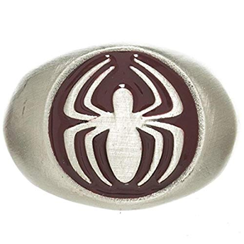 Marvel The Amazing Spider-Man Brushed Nickel Anneau | 9.5