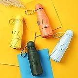 KFJHD Mini Paraguas for la protección Solar, UV Protección, Paraguas de cápsulas for Lluvia o Brillo, Paraguas Plegable, for niños, Estudiantes (Color : Green)