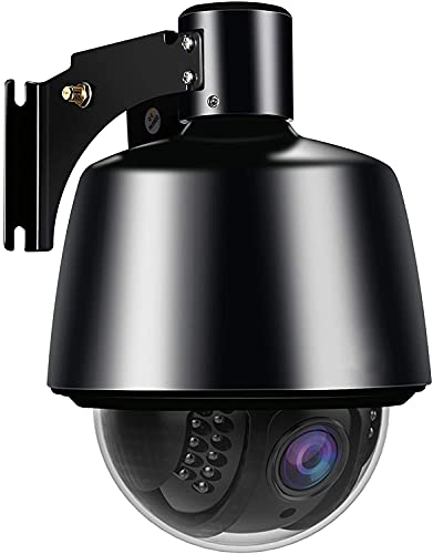 1080P WLAN IP Kamera Outdoor, 2MP WiFi PTZ Überwachungskamera Aussen, Schwenken/Neigen/5X Optischer Zoom, IR Nachtsicht,Wasserdicht IP65, mit Audio und SD Kartenteckplat, Bewegungsmelder