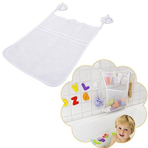 Livecity Raumwunder Taschen, Baby Badewanne Badewanne Spielzeug Mesh Aufbewahrungstasche Saug Badezimmer Sachen ordentlich Organizer Net Weiß