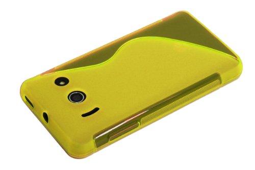 Luxburg® S-Line Design Schutzhülle für Huawei Ascend Y300 in Farbe Goldgelb/Gelb, Hülle Case aus TPU Silikon - 6