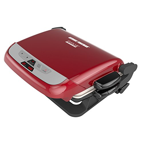 George Foreman 5-Serving Multi-Plate Evolve Grill System with Ceramic Plates and...
