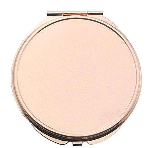 YZLSM Miroir Bourse Portable Rose d'or Miroir De Maquillage Compact De Poche Pliant Miroir pour Traveling, Camping-Grand Miroir De Maquillage Fard À Paupières Bourse Pliant Miroir De Poche