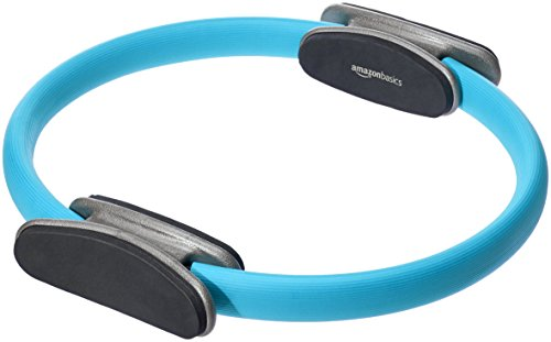 AmazonBasics Pilates Fitness Resistance Training Magic Circle Ring - 14 Inch, Blue