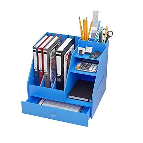 W-HUAJIA Caja DE Almacenamiento Suministros de Oficina Almacenamiento de Escritorio Artifact Book Shelf Books Debris Finishing Estudiante Dormitorio Racks (Color: C) (Color : B)