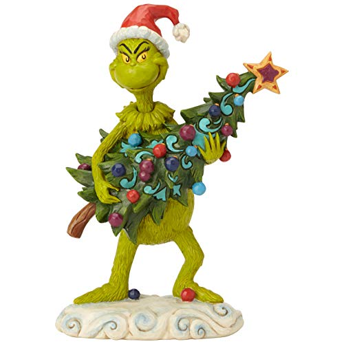 Enesco Dr. Seuss The Grinch by Jim Shore Stehlender Baum-Figur, 22 cm, Mehrfarbig
