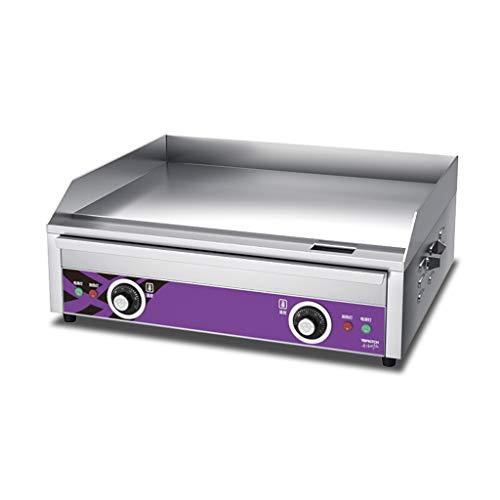 YX Plancha Plaque chauffante électrique en Acier Inoxydable/Plaque chauffante Plate/Barbecue de comptoir Commercial, Plaque chauffante/Grill de Cuisine/casseroles Frites 4400W