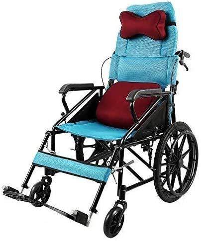 QUETAZHI QU523 - Silla plegable para personas mayores (respaldo alto, ligera, compacta, multifunción), color azul